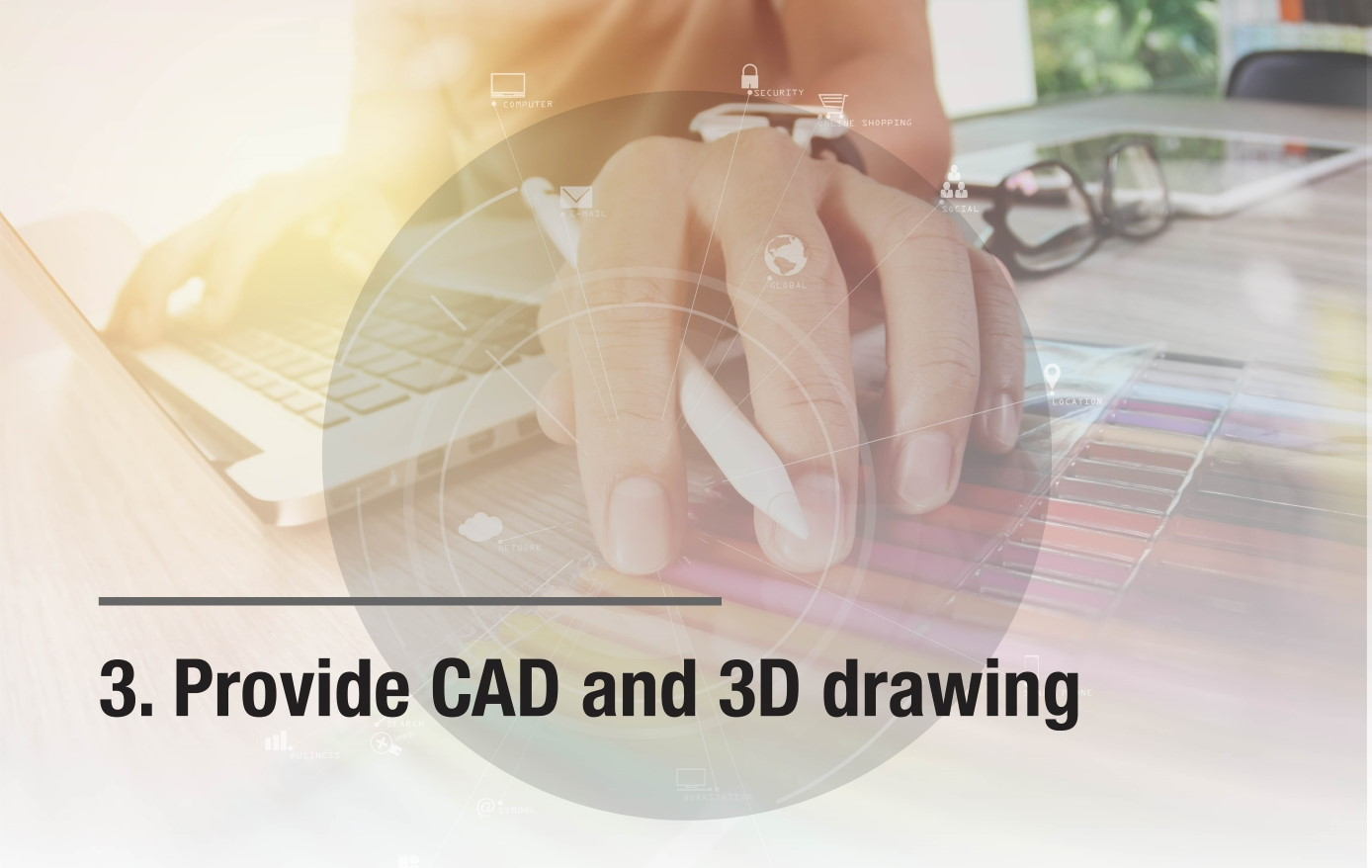 Provide CAD and 3D drawing