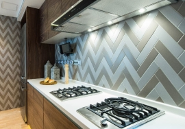 Contemporary and easy clean backsplash